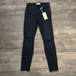"Madewell 9"" High-Rise Skinny Jeans in Black Sea"